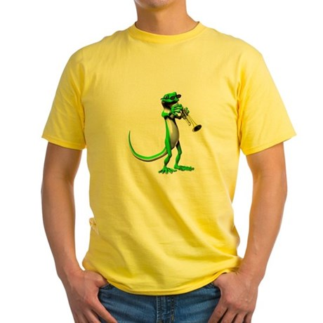 Blues Trumpet Gecko Yellow T-Shirt