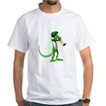 Blues Trumpet Gecko White T-Shirt