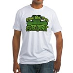 Kiss Me I'm Sexy Shamrock Fitted T-Shirt