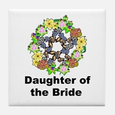 Pagan Pentagram Daughter of the Bride Tile Coaster