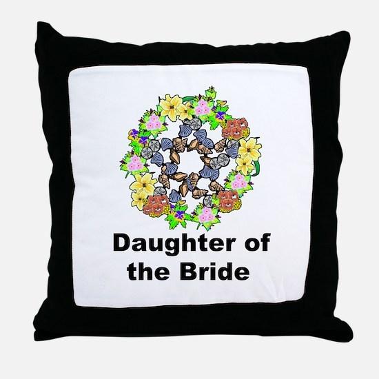 Pagan Pentagram Daughter of the Bride Throw Pillow