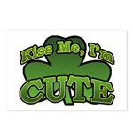 Kiss Me I'm Cute Shamrock Postcards (Package of 8)