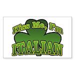 Kiss Me I'm Italian Shamrock Rectangle Sticker