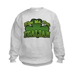 Kiss Me I'm Italian Shamrock Kids Sweatshirt