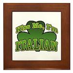 Kiss Me I'm Italian Shamrock Framed Tile