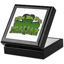 Kiss Me I'm Italian Shamrock Keepsake Box