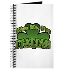 Kiss Me I'm Italian Shamrock Journal