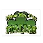 Kiss Me I'm Italian Shamrock Postcards (Package of
