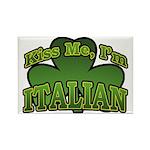 Kiss Me I'm Italian Shamrock Rectangle Magnet