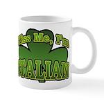 Kiss Me I'm Italian Shamrock Mug