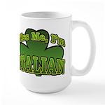 Kiss Me I'm Italian Shamrock Large Mug