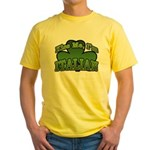 Kiss Me I'm Italian Shamrock Yellow T-Shirt