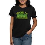 Kiss Me I'm Italian Shamrock Women's Dark T-Shirt