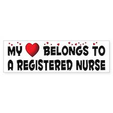 Belongs To A Registered Nurse Bumper Bumper Sticker
