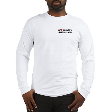Belongs To A Registered Nurse Long Sleeve T-Shirt