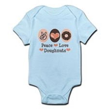 Peace Love Doughnuts Donut Infant Bodysuit