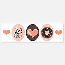 Peace Love Doughnuts Donut Bumper Bumper Bumper Sticker