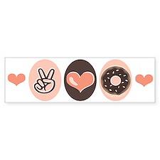 Peace Love Doughnuts Donut Bumper Bumper Sticker