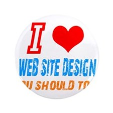 "Funny Web site design 3.5"" Button (100 pack)"