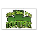 Kiss Me I'm Drunk Shamrock Rectangle Sticker
