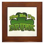 Kiss Me I'm Drunk Shamrock Framed Tile