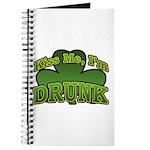Kiss Me I'm Drunk Shamrock Journal