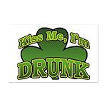 Kiss Me I'm Drunk Shamrock Mini Poster Print