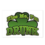 Kiss Me I'm Drunk Shamrock Postcards (Package of 8