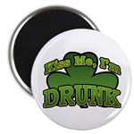 Kiss Me I'm Drunk Shamrock Magnet