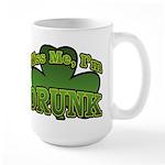 Kiss Me I'm Drunk Shamrock Large Mug