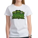 Kiss Me I'm Drunk Shamrock Women's T-Shirt