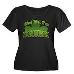 Kiss Me I'm Drunk Shamrock Women's Plus Size Scoop