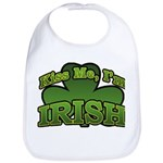 Kiss Me I'm Irish Shamrock Bib