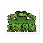 Kiss Me I'm Irish Shamrock Mini Poster Print