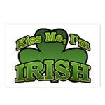 Kiss Me I'm Irish Shamrock Postcards (Package of 8