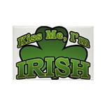 Kiss Me I'm Irish Shamrock Rectangle Magnet (10 pa