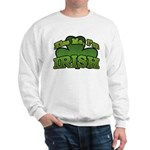 Kiss Me I'm Irish Shamrock Sweatshirt