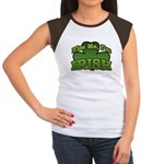 Kiss Me I'm Irish Shamrock Women's Cap Sleeve T-Sh