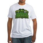 Kiss Me I'm Irish Shamrock Fitted T-Shirt