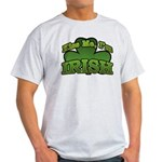 Kiss Me I'm Irish Shamrock Light T-Shirt