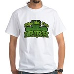 Kiss Me I'm Irish Shamrock White T-Shirt