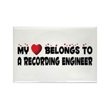 Belongs To A Recording Engineer Rectangle Magnet