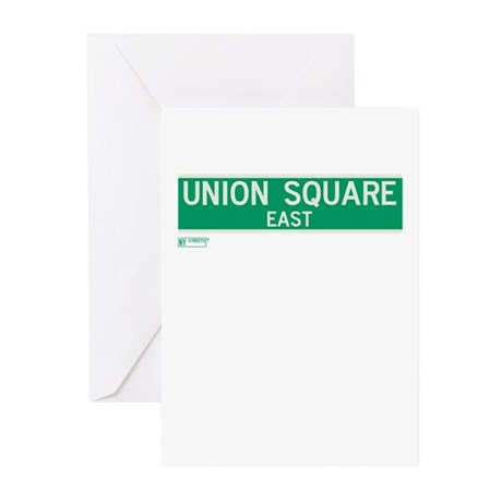 Union Square East in NY Greeting Cards (Pk of 10)