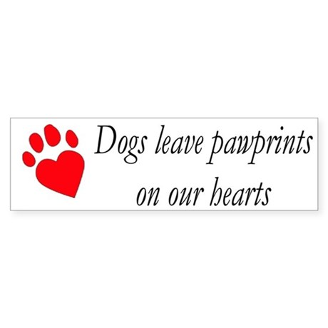 Dog Heart Paw Bumper Sticker