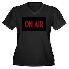 On air Women's Plus Size V-Neck Dark T-Shirt