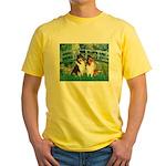 Bridge / Two Collies Yellow T-Shirt