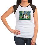 Bridge / Two Collies Women's Cap Sleeve T-Shirt