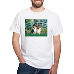 Bridge / Two Collies White T-Shirt