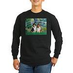 Bridge / Two Collies Long Sleeve Dark T-Shirt