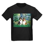 Bridge / Two Collies Kids Dark T-Shirt